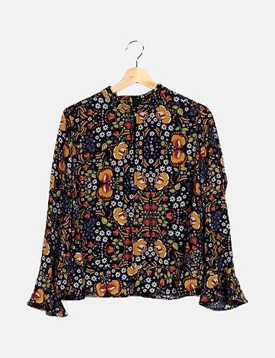 Blusa multicolor print floral
