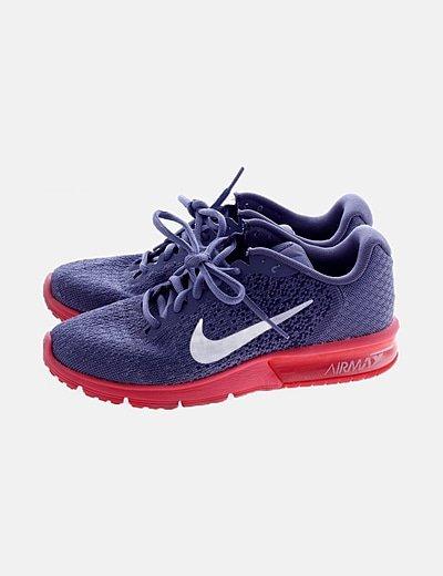 Deportiva gris running