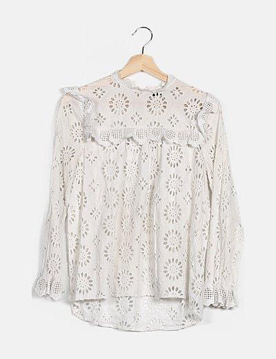Blusa guipur blanca