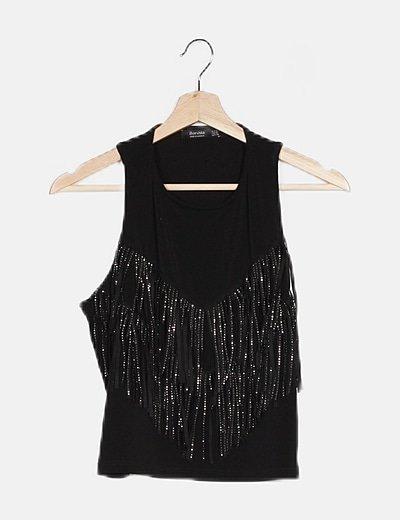 Camiseta flecos con glitter
