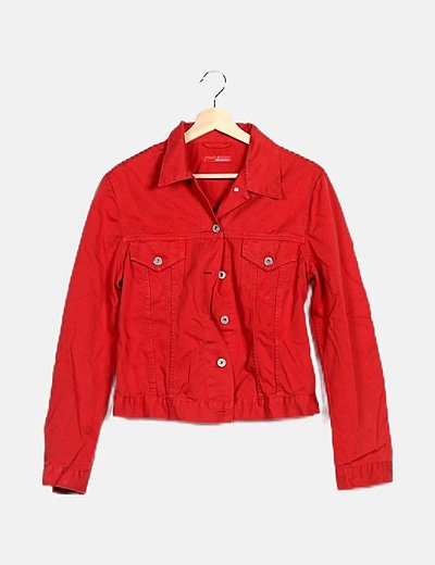 Chaqueta denim roja