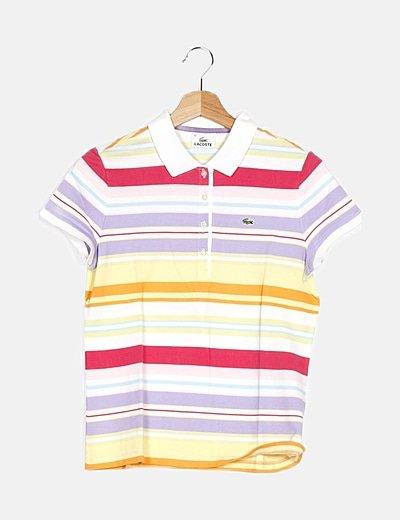 Polo multicolor estampado rayas