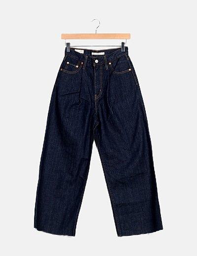 Jeans azul marino campana