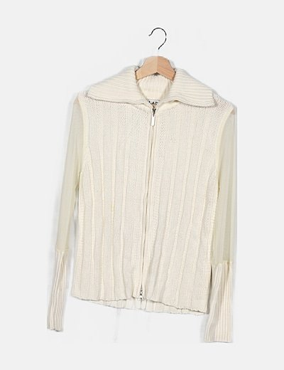 Sudadera blanca tricot