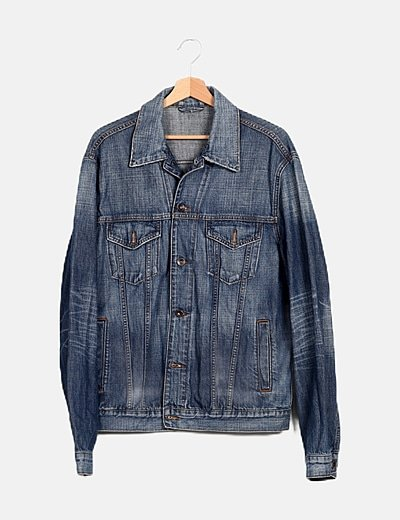 Chaqueta larga denim