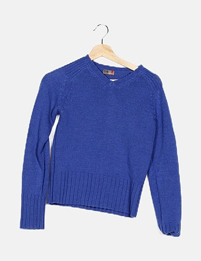 Jersey tricot azul