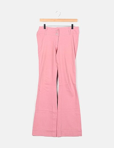 Jeans rosas campana