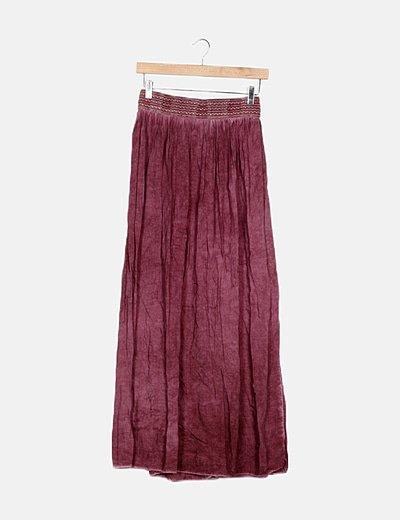 Maxi falda morada
