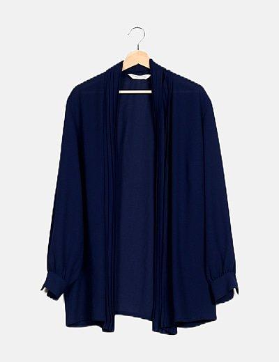 Kimono azul marino semitransparente