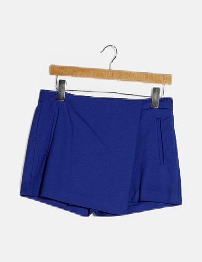 Faldapantalón azul bolsillos