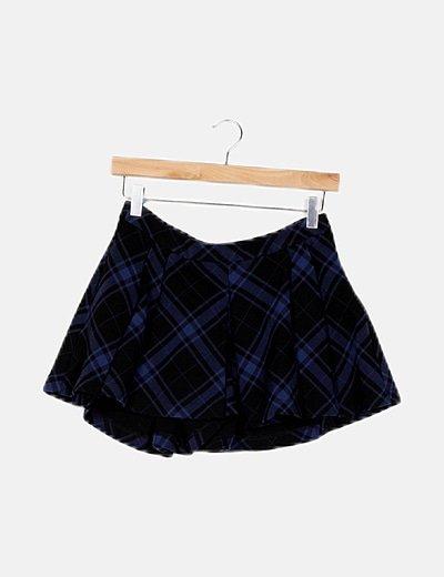 Falda pantalón bicolor cuadros escoceses