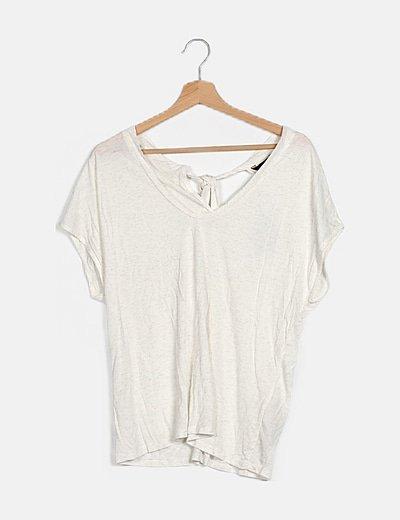 Camiseta blanca con glitter