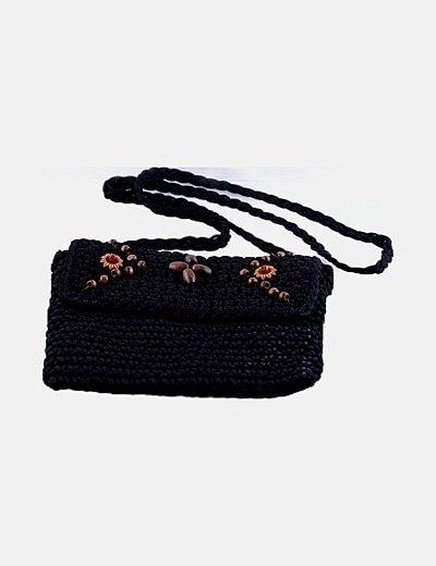 Bolso negro tricot