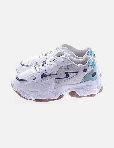 Zapatillas sneakers combinadas