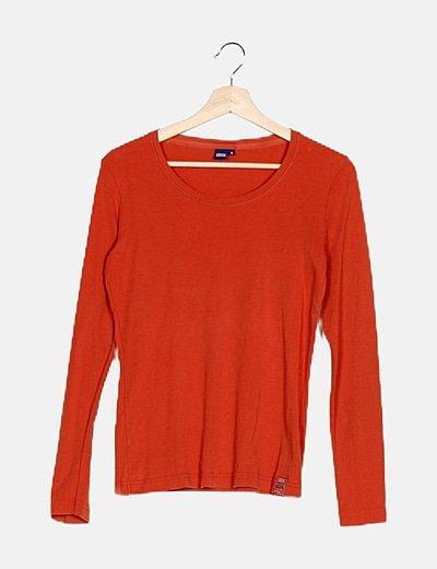 Camiseta básica naranja