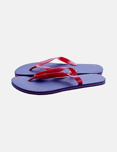Chancleta azul y rojo