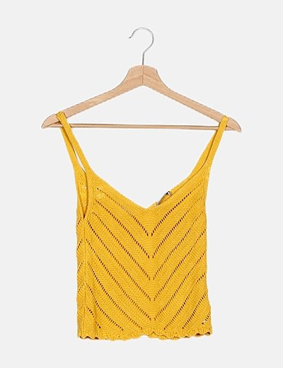 Camiseta tricot amarilla