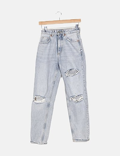 Jeans denim mom fit ripped