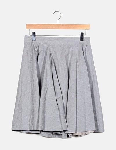 Falda gris evasé