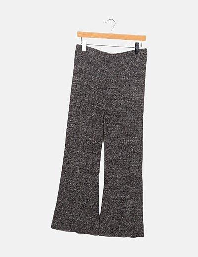 Pantalón gris canalé