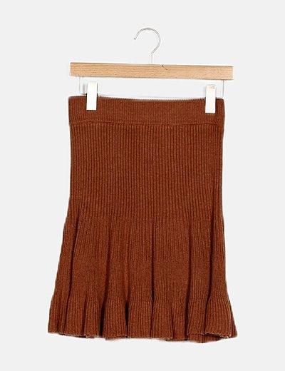 Falda marrón combinada