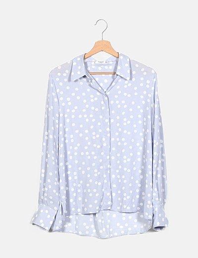 Camisa azul moteada