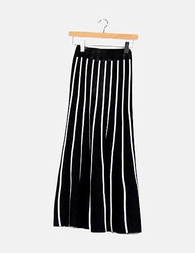 Maxi falda bicolor rayas