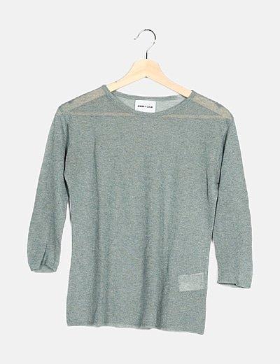 Camiseta verde glitter