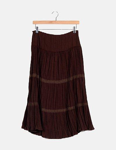 Falda marrón vuelo