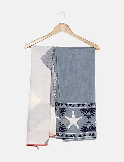 Pack 2 foulard multicolor