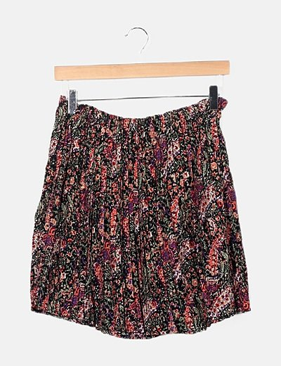Falda multicolor estampado floral