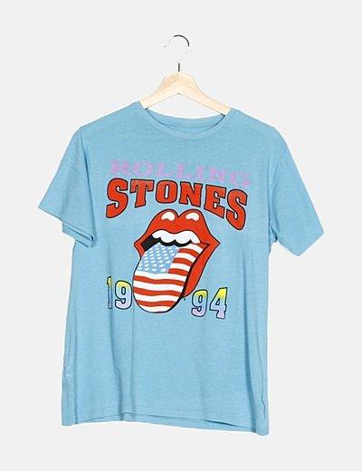 Camiseta azul Rolling Stones