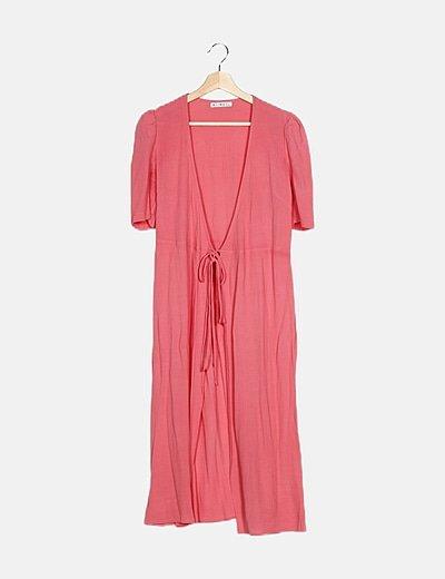 Kimono rosa lace up