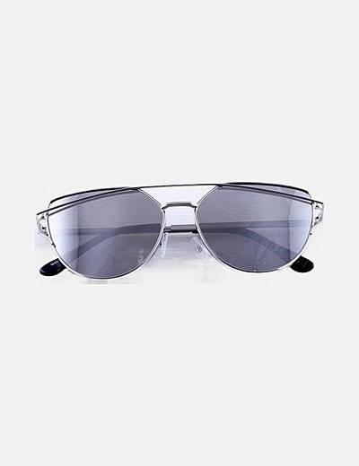 Gafas de sol montura plateada
