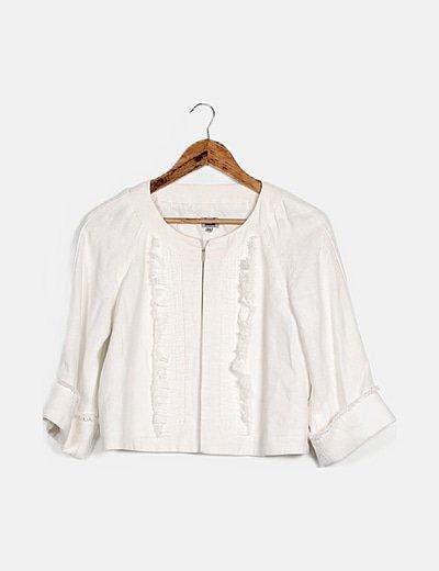 Blazer blanca manga larga