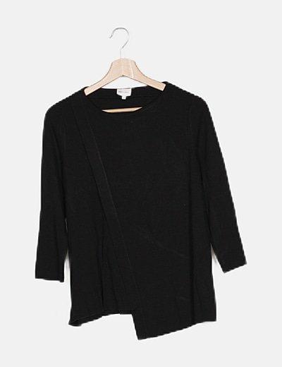 Camiseta negra manga larga
