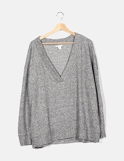 Jersey jaspeado gris