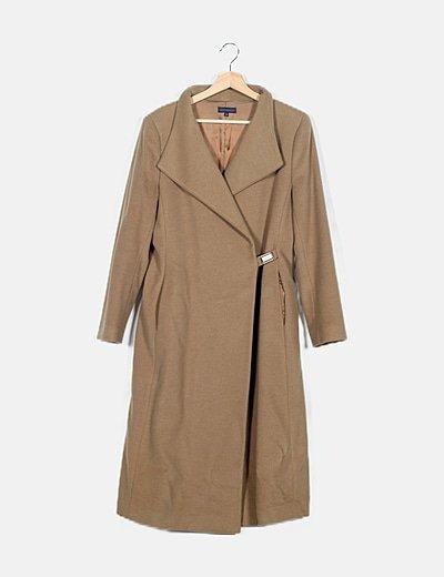 Abrigo largo beige