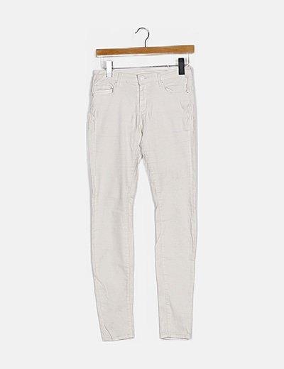 Pantalón blanco skinny