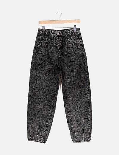 Jeans denim negro deslavado