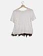 Camiseta blanca detalles multicolor NoName