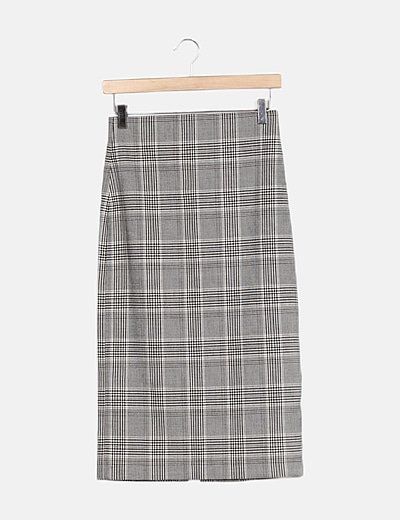 Falda gris cuadros