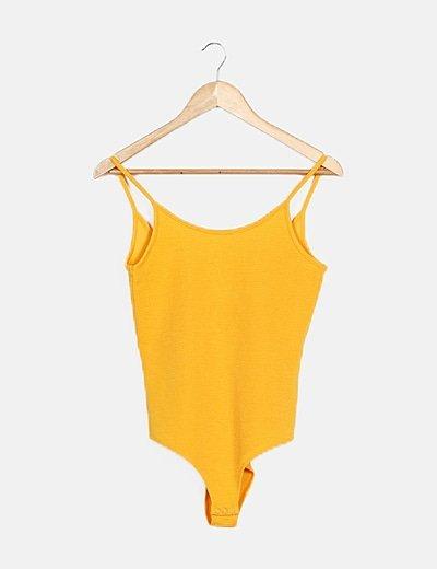 Body canalé amarillo