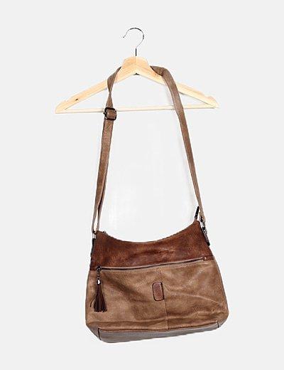 Bolso bandolero marrón