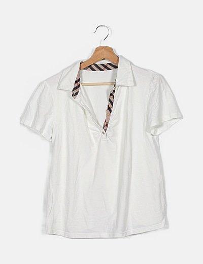 Polo blanco manga corta