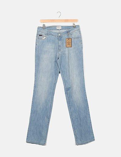Pantalón denim azul recto