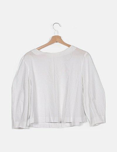 Blusa blanca crepe