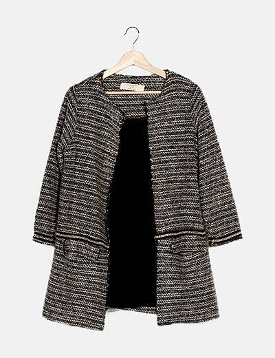 Abrigo tweed bicolor