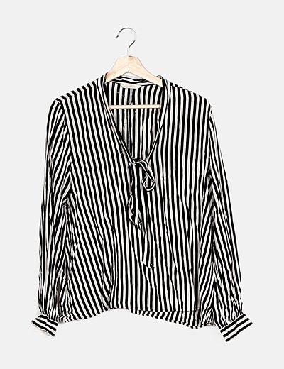 Blusa bicolor de rayas