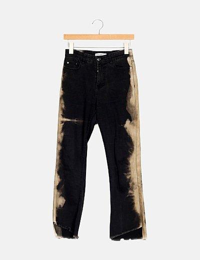 Pantalón bicolor denim